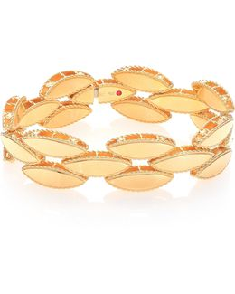 Retro 18k Yellow Gold Narrow Bangle Bracelet