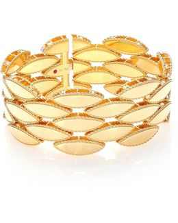 Retro 18k Yellow Gold Wide Bracelet