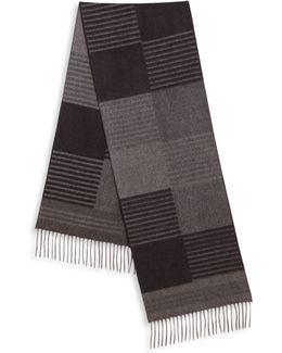 Cashmere & Silk Striped Scarf