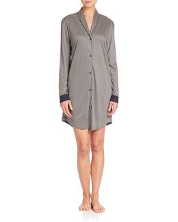 Giada Button-front Sleepshirt