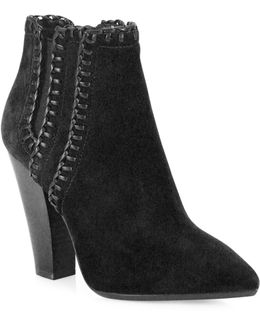 Channing Suede Point Toe Booties