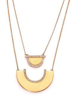 Neri Kahlo White Topaz Two-tier Pendant Necklace