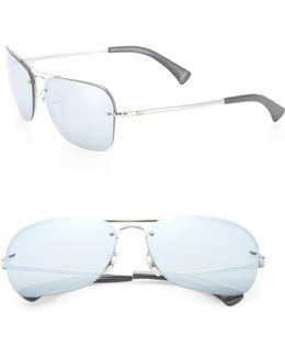 61mm Mirrored Caravan Sunglasses