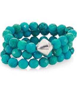 Turquoise Beaded Stretch Bracelet Set
