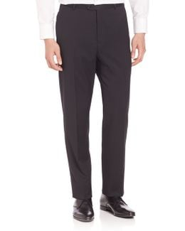 Solid Wool Trousers
