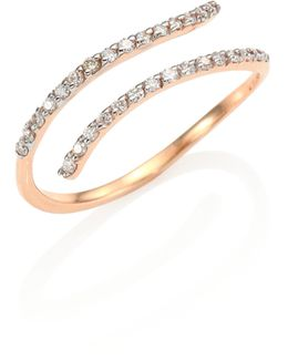 Lumiere Diamond & 14k Rose Gold Pinky Ring