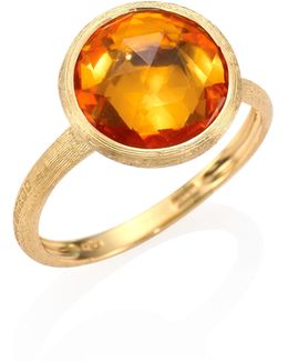 Citrine & 18k Yellow Gold Medium Stackable Ring