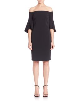 Crepe Short Dress