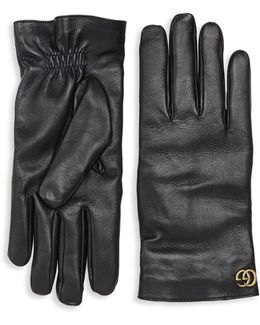 Cashmere & Leather Gloves