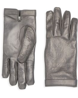 Textured Leather Gloves