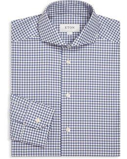 Checked Long Sleeve Cotton Shirt