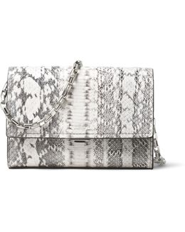 Snakeskin & Chain Crossbody