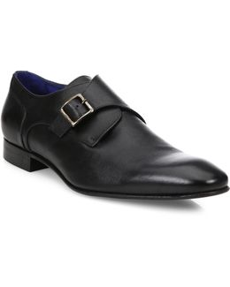 Saffiano Leather Monkstrap Shoes