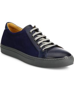 Collection Mix Media Leather Low-top Sneakers