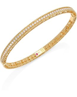 Symphony Braided Diamond & 18k Yellow Gold Bracelet