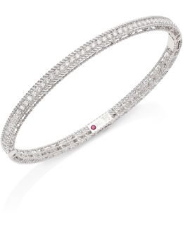 Symphony Braided Diamond & 18k White Gold Bracelet