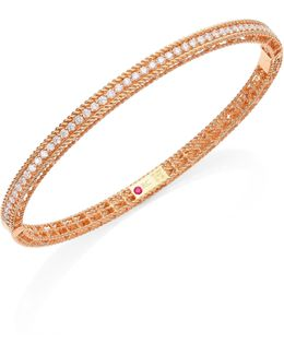 Symphony Braided Diamond & 18k Rose Gold Bracelet