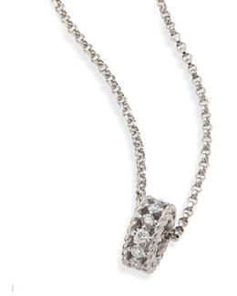 Symphony Braided Diamond & 18k White Gold Pendant Necklace