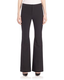 Solid Flare Trousers