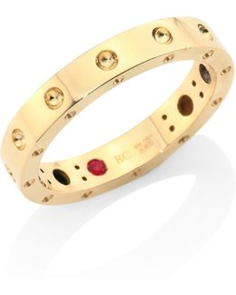 Pois Moi 18k Yellow Gold Band Ring