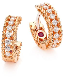 Symphony Diamond & Ruby Hoops