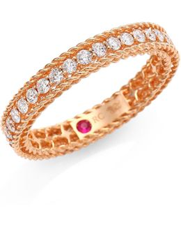 Symphony Braided Diamond & 18k Rose Gold Ring