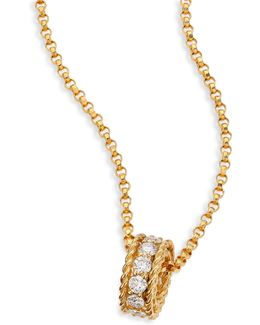 Symphony Braided Diamond & 18k Yellow Gold Pendant Necklace