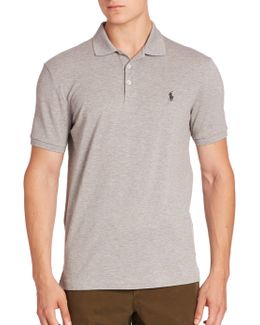 Heathered Polo Shirt