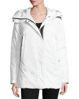 Zip Front Hooded Jacket
