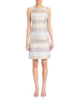 Mixed Media Sheath Dress