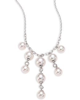 Lucy 6-8mm Organic Pearl Chandlier Necklace