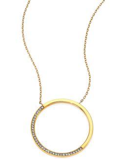 Brilliance Circular Pave Pendant Necklace