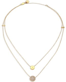 Brilliance Layered Disc Chain Necklace