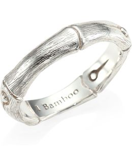 Bamboo Sterling Silver Band Ring