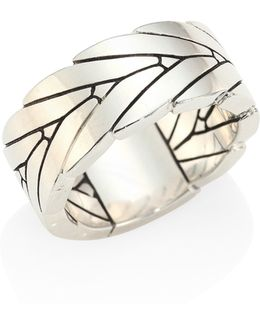 Modern Chain Sterling Silver Ring