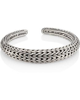 Classic Chain Sterling Silver Cuff Bracelet