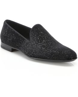 Saks Fifth Avenue By Magnanni Velvet Smoking Slippers