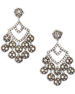 Dot Sterling Silver Chandelier Earrings
