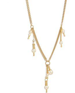 Kay Swarovski Pearl Lariat Necklace
