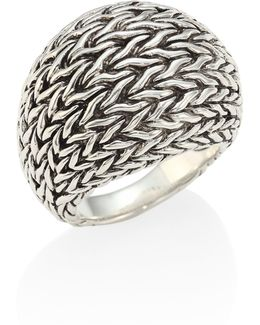 Classic Chain Sterling Silver Dome Ring