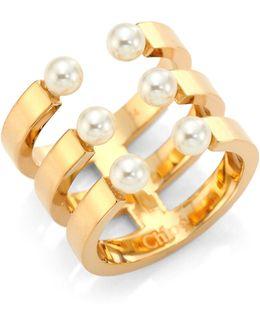 Darcey Swarovski Pearl Ring