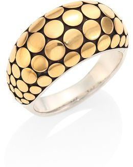 Dot 18k Yellow Gold & Sterling Silver Ring