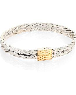 Modern Chain 18k Yellow Gold & Sterling Silver Bracelet