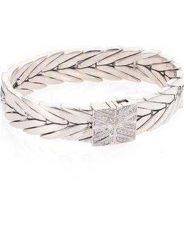 Modern Chain Diamond & Sterling Silver Bracelet