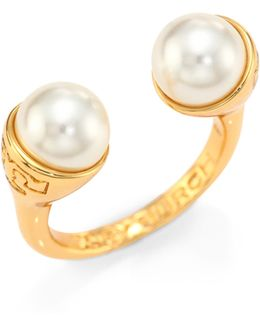Faux Pearl Bud Ring