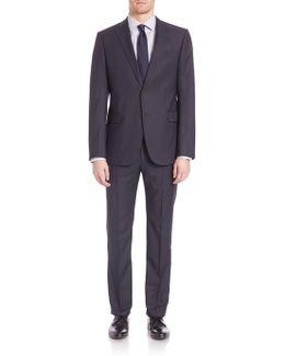 Woolen Notched Lapels Suit