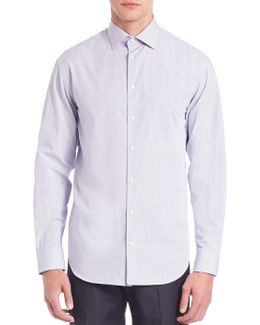 Modern-fit Checked Cotton Dress Shirt