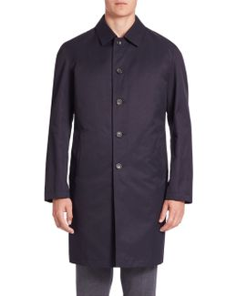 Solid Long Sleeves Trench Coat