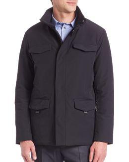 Microfiber Hooded Field Jacket