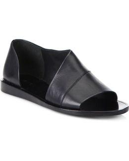Tabitha Asymmetrical Leather Flats
